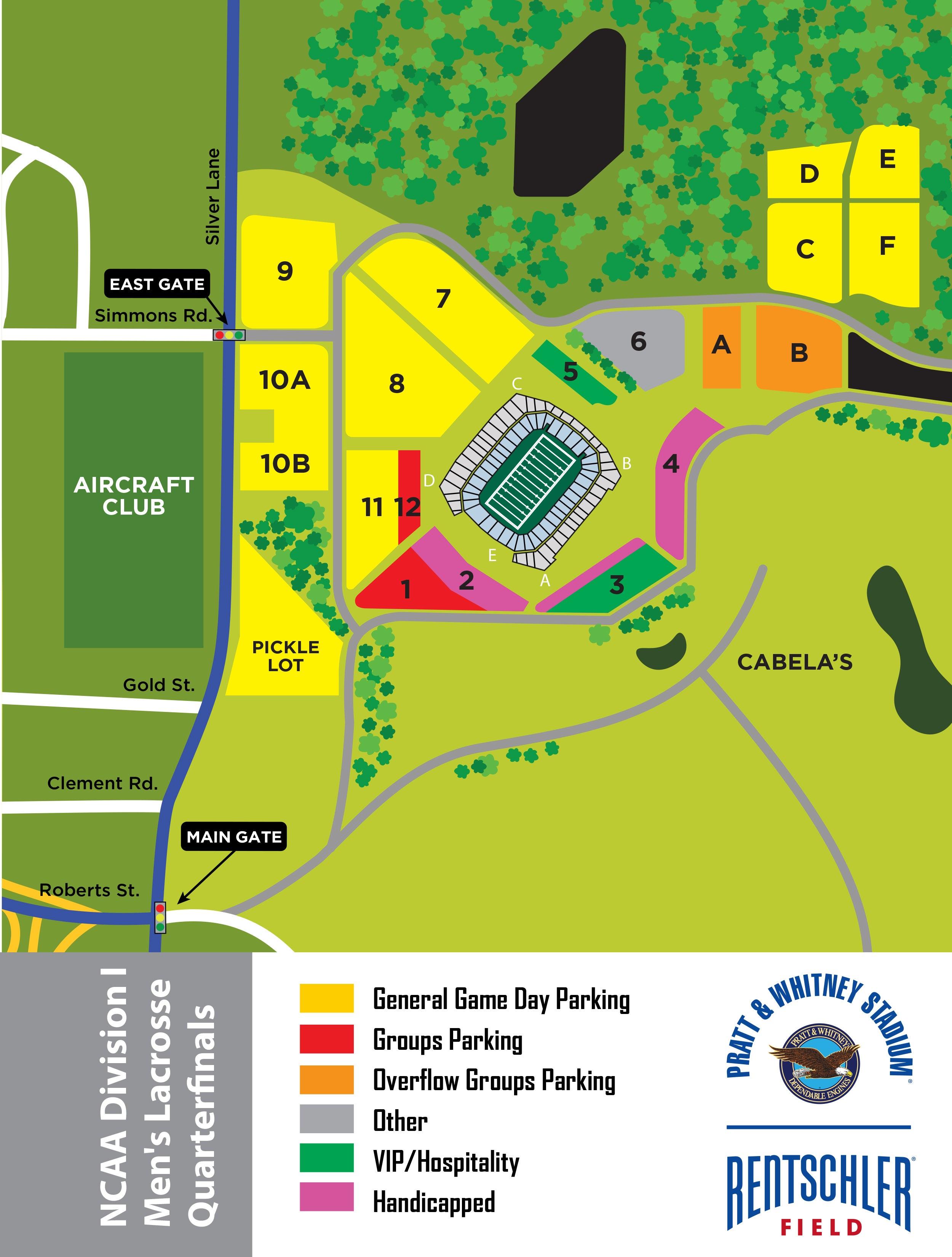 Pratt And Whitney East Hartford Map Event Parking | Rentschler Field
